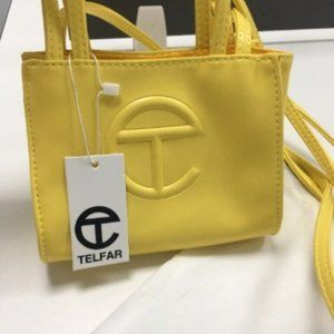 Telfar Small yellow Shopping Shoulder Bag